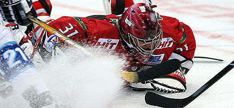 Haie-Goalie Chris Rogles